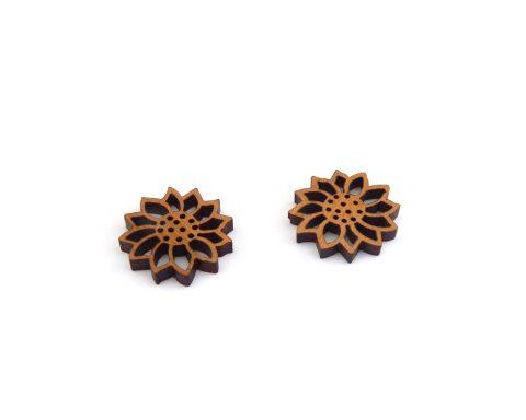 Simple Flower Wood Earrings  Choose Wood