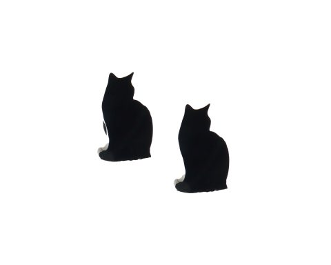 Cat Silhouette Stud Earrings – Choose
