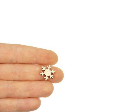 Snowflakes Blank Wood Cabochons