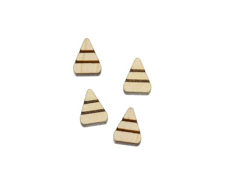 Candy Corns Engraved Wood Cabochons