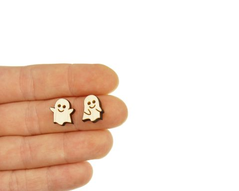 Ghost Mix Set A01 Engraved Wood Cabochons