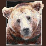 Brown Bear 01 Small Panel Peyote Seed Bead Pattern PDF or KIT DIY-Maddiethekat Designs