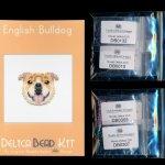 English Bulldog Brick Stitch Seed Bead Pattern PDF or KIT DIY-Maddiethekat Designs