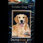 Golden Dog 02 Small Panel Peyote Seed Bead Pattern PDF or KIT DIY-Maddiethekat Designs