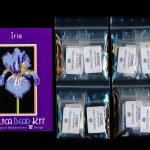 Iris Flower 01 Small Panel Peyote Bead Pattern PDF or KIT DIY-Maddiethekat Designs