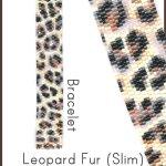 Leopard Fur Slim Bracelet Delica 2-Drop Peyote Seed Bead Pattern or KIT DIY Rosettes Spots-Maddiethekat Designs