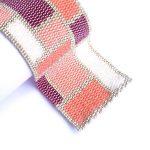 Mondrian Feminine Wide Cuff 2-Drop Peyote Seed Beaded Bracelet-Maddiethekat Designs