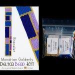 Mondrian Goldenly Slim Bracelet Delica 2-Drop Peyote Bead Pattern or KIT DIY-Maddiethekat Designs