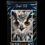Owl 03 Small Panel Peyote Seed Bead Pattern PDF or KIT DIY Bird-Maddiethekat Designs