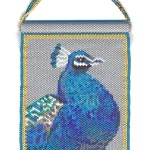 Peacock Beaded Panel Tapestry Wall Art Bird