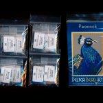 peacock small panel peyote seed bead pattern pdf or kit diy bird maddiethekat designs 2