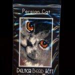 Persian Cat 01 Small Panel Peyote Seed Bead Pattern PDF or KIT DIY-Maddiethekat Designs