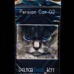 Persian Cat 02 Small Panel Peyote Seed Bead Pattern PDF or KIT DIY-Maddiethekat Designs