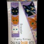 Pretty Kitties Bracelet Cuff Delica Peyote Bead Pattern or KIT DIY Cats Felines-Maddiethekat Designs