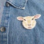 sheep delica seed beaded pin lamb maddiethekat designs 2