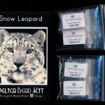 Snow Leopard 01 Larger Panel Peyote Seed Bead Pattern PDF or KIT DIY-Maddiethekat Designs