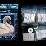 swan 01 small panel peyote seed bead pattern pdf or kit diy bird maddiethekat designs 2