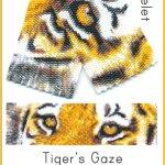Tiger's Gaze Wide Cuff Bracelet 2-Drop Peyote Bead Pattern PDF or Bead Kit