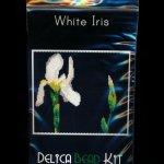 White Iris (Panel or Amulet Bag) Peyote Pattern PDF or KIT DIY Flower-Maddiethekat Designs
