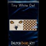White Owl 01 Tiny Mini Amulet Bag Peyote Seed Bead Pattern or KIT DIY Bird-Maddiethekat Designs