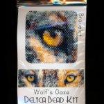 Wolf's Gaze Wide Cuff Bracelet Delica Peyote Bead Pattern PDF or KIT Wolf-Maddiethekat Designs