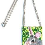 Bunny Rabbit Delica Beaded Necklace Mini Amulet Bag