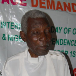 Young Nigerians volunteer to take part in the International Day of Older People