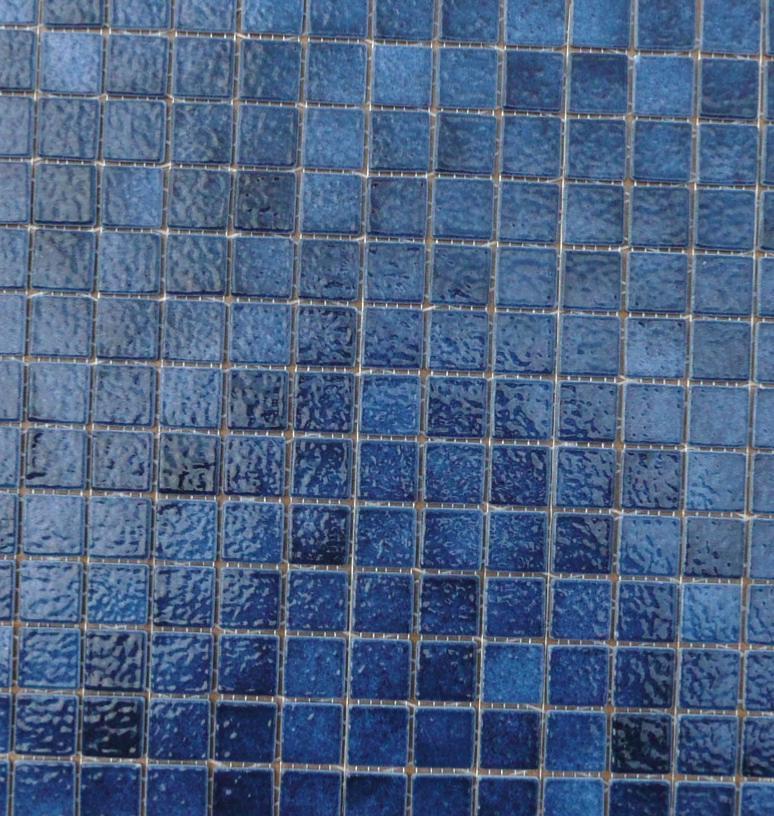 bleu nuit caraibe mosaique briare par plaque 34 cm