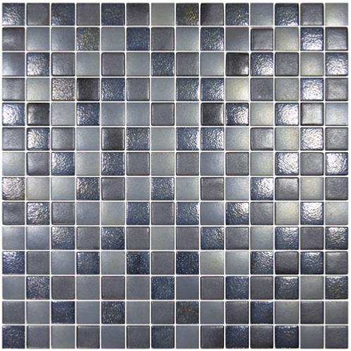 noir gris nacre et uni carre neo mosaique emaux brillant mix effet par 20 carreaux