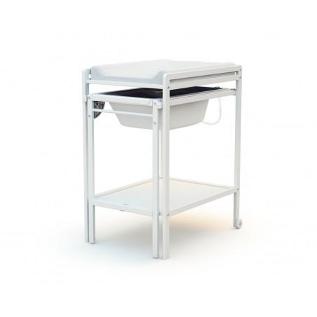 table a langer coulissante avec baignoire at4 blanc