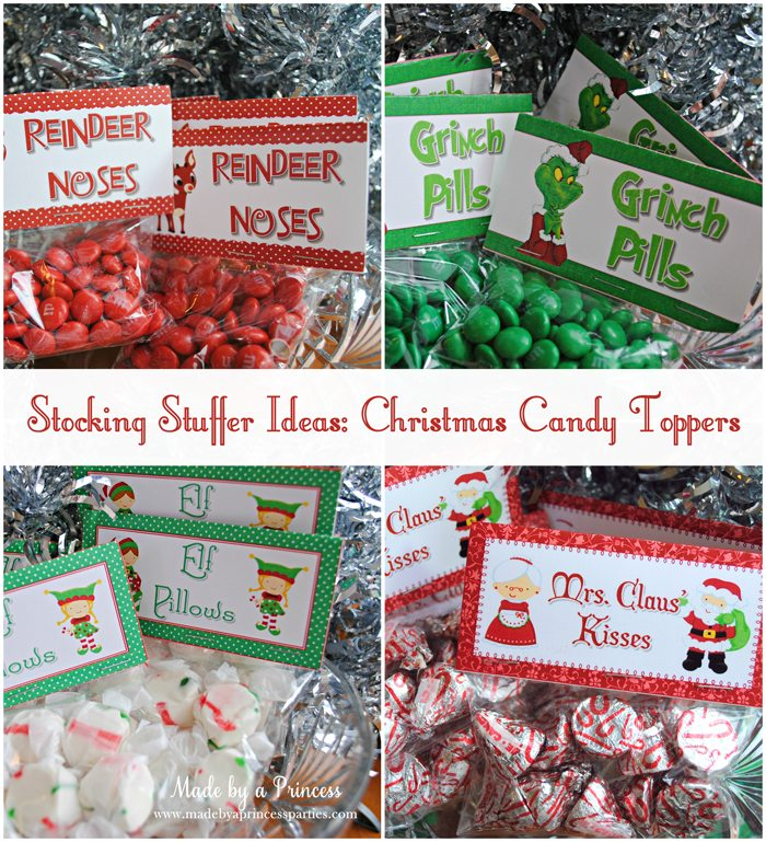 stocking stuffer idea christmas candy toppers