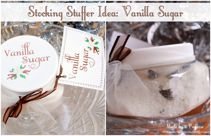 stocking stuffer idea vanilla sugar
