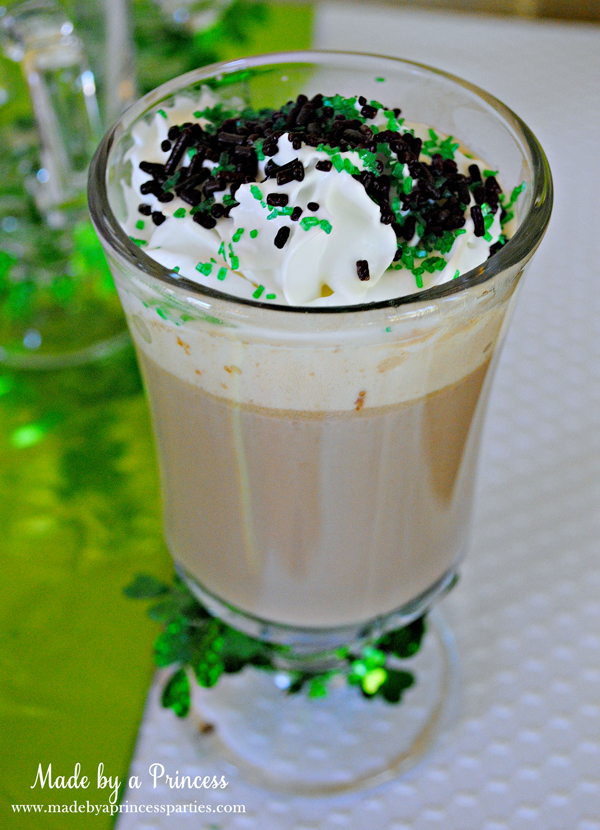 Kids St Patricks Day Party Ideas crock pot hot chocolate with sprinkles