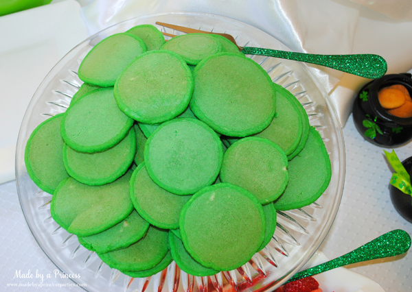 Kids St Patricks Day Party Ideas mini green pancakes 2