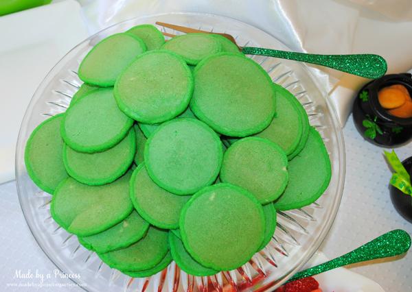 Kids St Patricks Day Party Ideas mini green pancakes 2