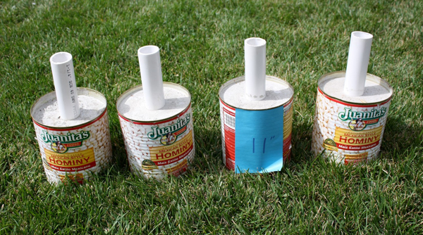 How to Make a PVC Canopy create anchors with cement