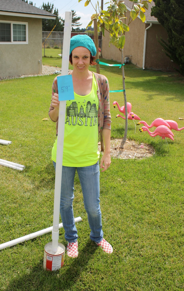 How to Make a PVC Canopy frame should be tall enough to stand in