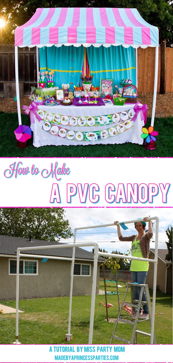 How to Make a PVC Canopy step by step instructions on how to create your own