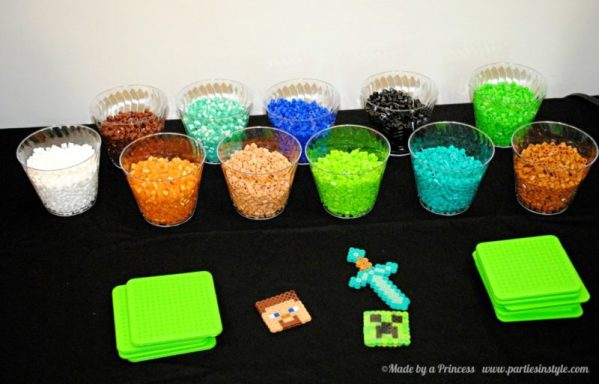 Minecraft party favor ideas for a minecraft themed party
