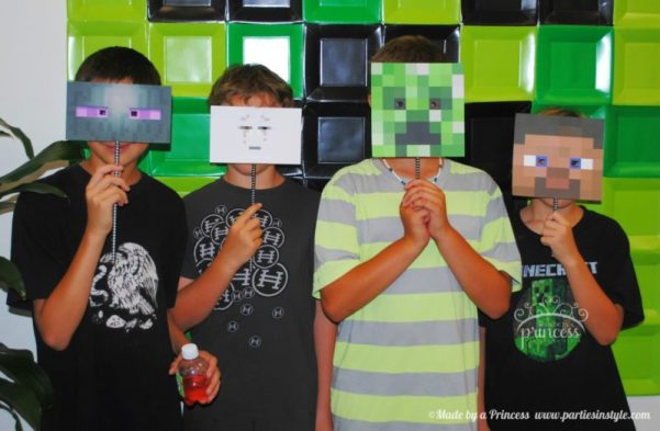 Minecraft birthday decorations for a minecraft themed party
