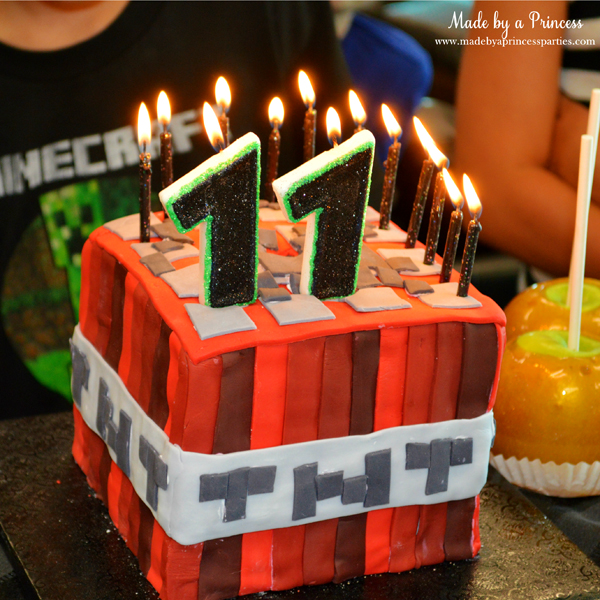 Birthday Candles Dollar Tree Ultimate Minecraft Party TNT Cake Perfect For Minecraftparty
