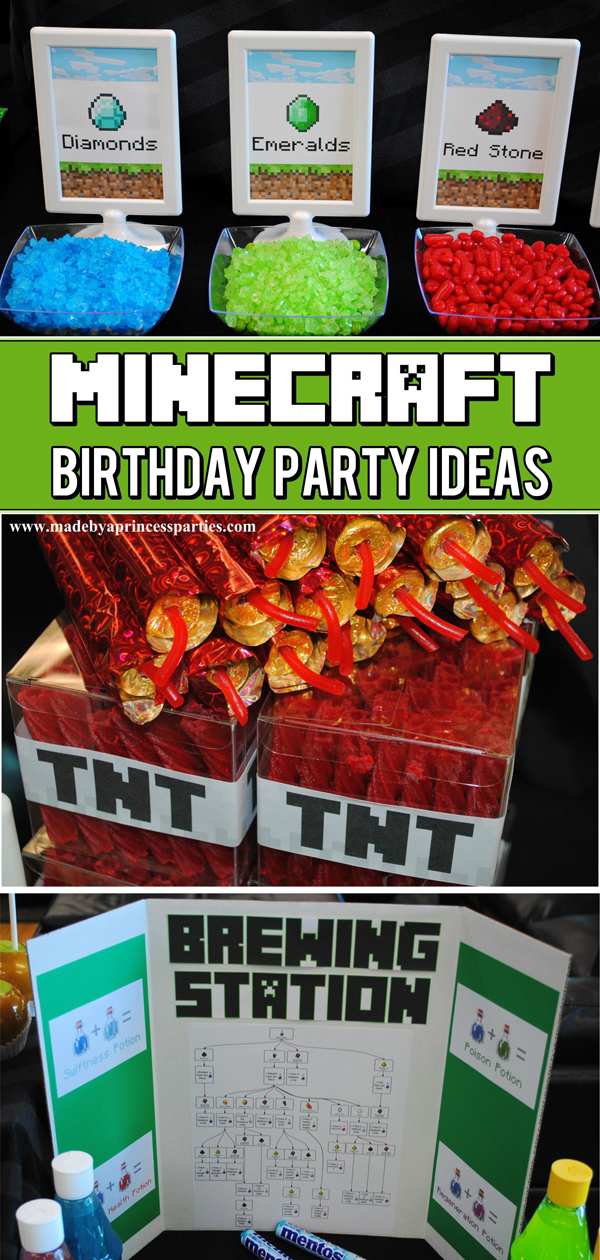 Ultimate Minecraft Birthday Party including free party printables