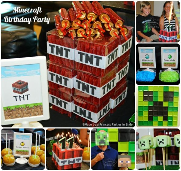 Made by a Princess: Minecraft party