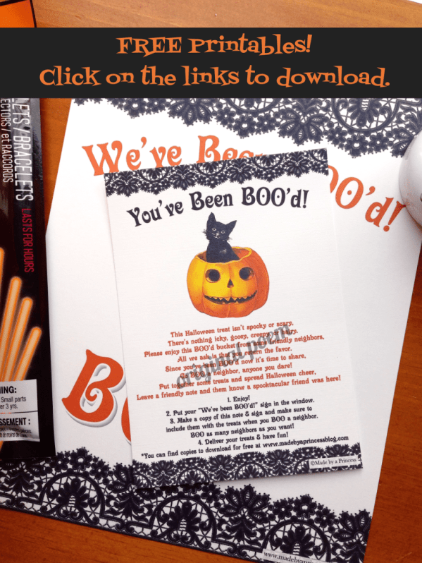 You've Been BOO'd FREE printable set