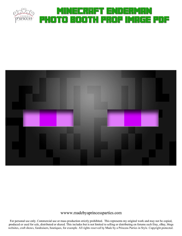 Make Your Own Minecraft Photo Booth Props Enderman PDF