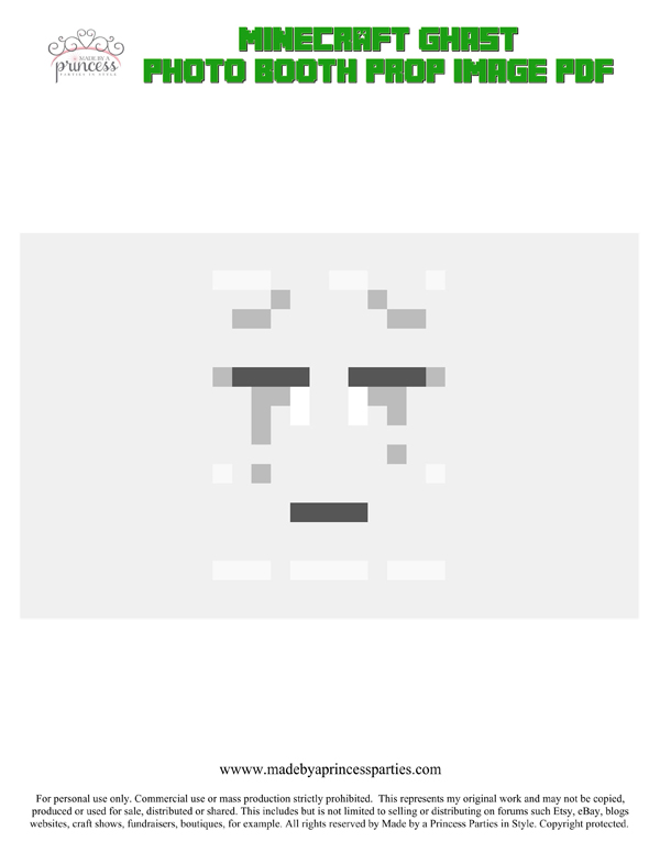 Make Your Own Minecraft Photo Booth Props Ghast PDF
