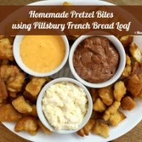 Pretzel Bites using Pillsbury French Bread Loaf