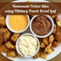 Pretzel Bites using Pillsbury French Bread Loaf