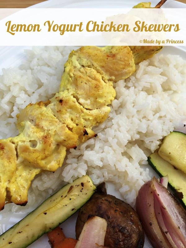 lemon yogurt chicken with coconut rice