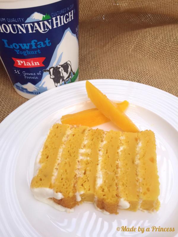 mango coconut cake slice